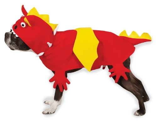 Zack and Zoey Dragon Dog Costume, Large, Red, My Pet Supplies