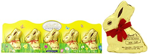 Lindt Milk Chocolate Value Bundle of 5 Count Mini Bunnies an