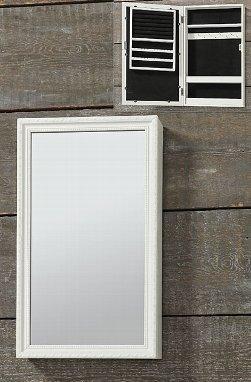 Armadietto da parete, con specchio portagioie Con cornice in legno bianco e vetro. Boltze Gruppe GmBH