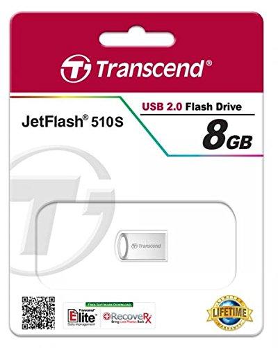 upc 760557826811 product image for Transcend 8GB JetFlash 510 USB 2.0 Metallic Flash Drive (TS8GJF510S)
