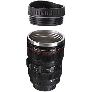 Steel Design Cup Stainless safe To Walker Lens Free For Drinking Travel Leak creative Camera With Proof Thermos Mug Use Lid qUSVMpz
