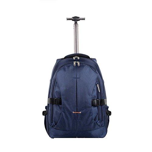 Comfortablely Boarding trolley custodia multifunzione zaino ultraleggero impermeabile Single shot bag con aste 2unidirezionale cuscinetto ruota Blue