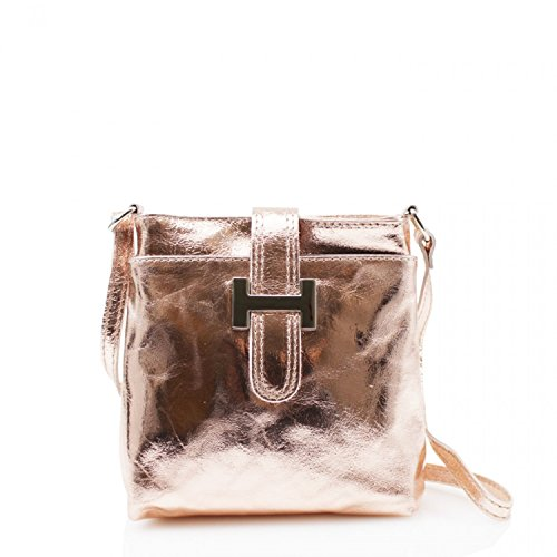 Cross Body Small Real For GREEN Holiday LeahWard Women Messenger Bags Handbag Women's Leather Rosegold ax6IwnHF
