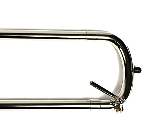 Brand New Bb/F Tenor Trombone w/ Case and Mouthpiece- Nickel Plated Finish by Moz (Image #4)