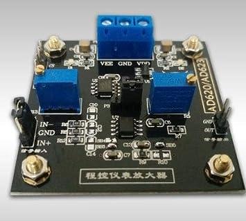 ws-xing amplificador de instrumentación AD620 voltaje amplificador CNC potenciómetro mcp41050 diferencial amplificador memoria