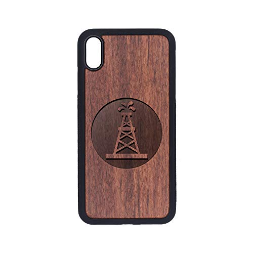 Oilfield Roughneck - iPhone Xs MAX Case - Rosewood Premium Slim & Lightweight Traveler Wooden Protective Phone Case - Unique, Stylish & Eco-Friendly - Designed for iPhone Xs MAX