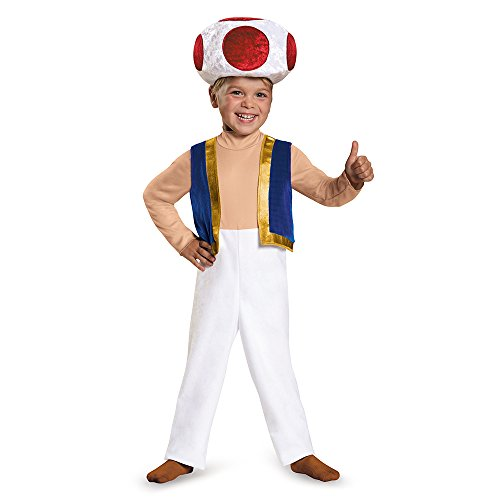 Mario Bros Costume For Toddler (Toad Toddler Costume, Small (2T))