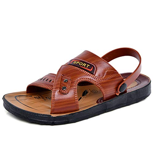 Men's Sandal-AopnHQ/Mens Open Toe Casual Leather Comfort Slippers Sandals Large Size 6 7 8 9 10