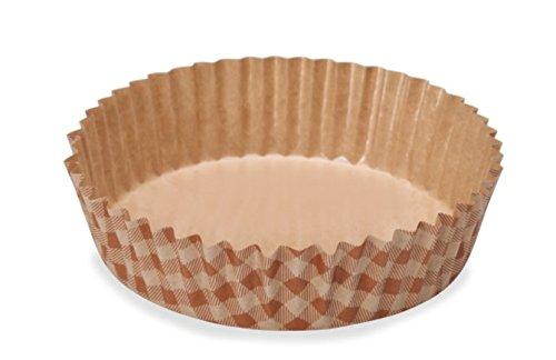 Welcome Home Brands Ruffled Baking Cups, Set of 30 (4 Diameter / 8.5 oz) (30, Brown Checker)