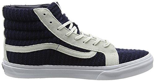 – White Vans Suede Navy Woven Adulto Ginnastica Slim Scarpe da Blu Blue Unisex hi Sk8 True ZrqR1Z0