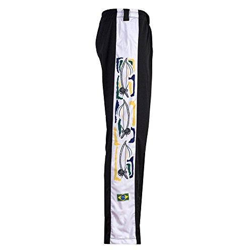Brasiliano Bianco Arti In Unisex Tradizionale Nero Originale Jl Gamba Capoeira Con Pantaloni Marziali Sport Berimbau Lungo xqEpgnwCfH
