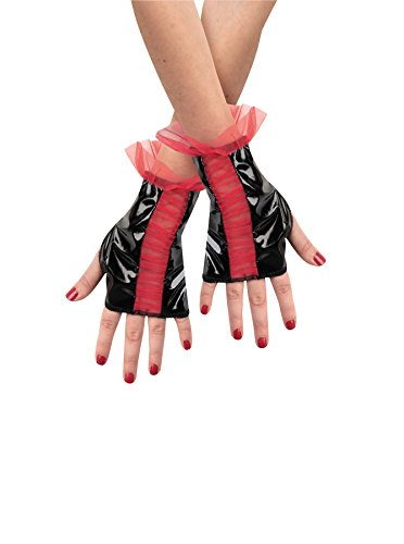 Disguise Costumes Glovettes Red Black Rouged Child ()