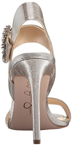 Simpson Jessica Bindy Women's Shimmer Heeled Silver Sandal qHBTvxqwR