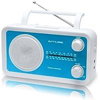 Muse M-05BL Radio portable FM/MW/LW/SW Tuner analogique Secteur ou Pile Bleu