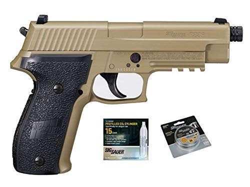 (SIG Sauer P226 Air Pistol with CO2 12 Gram (15 Pack) and 500 Lead Pellets Bundle (Flat Dark Earth))