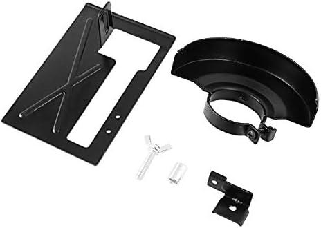 アングルグラインダーカッティングマシン延長カッティングサポートサンドホルダー+保護カバー木工電動工具-ブラック