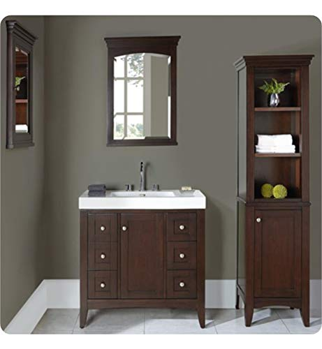 Fairmont Red Bathroom Vanity - Fairmont Designs 1513-V3618 Shaker Americana 34 3/4