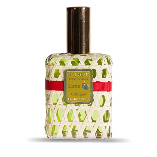West Indian Lime Cologne for Men. 4 Oz Spray Cologne Fresh Lime in Signature Bottle. St Johns Fragrance Company