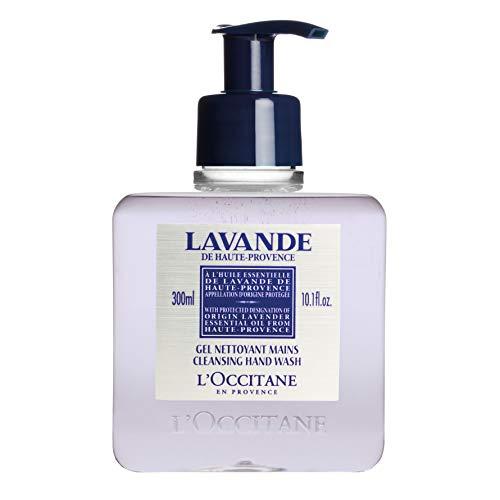 Lavender Hand Wash - L'Occitane Cleansing Lavender Liquid Hand Soap with Lavender Essential Oil, 10.1 fl. oz.