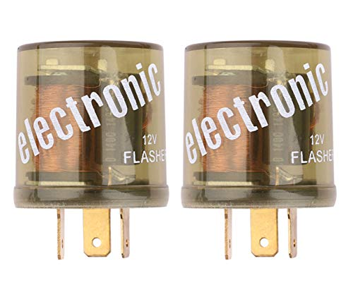 Heavy Duty Turn Signal - Electronic Flasher Relay, Sdootauto Heavy Duty Turn Signal Flasher Relay 3 Pin 12V LED Compatible for Motors Turn Signal & Hazard Warning- 2 Pack