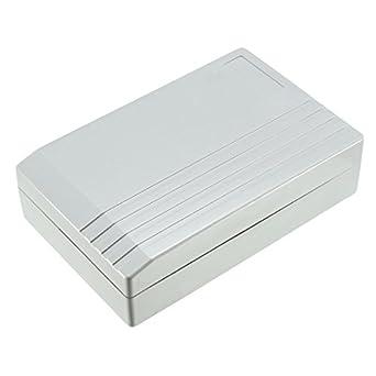 uxcell - Caja de derivación electrónica de plástico, 130 x 85 x 35 mm, color gris: Amazon.es: Amazon.es