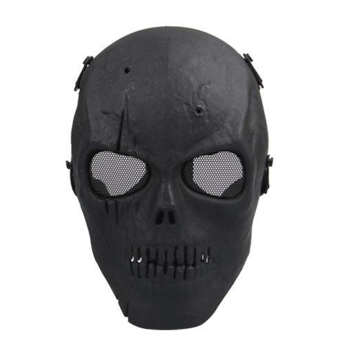 Softair Maske Totenkopf Schädel Vollschutzmaske Schwarz Militär
