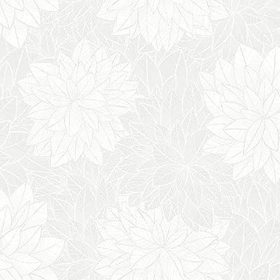 Wall Vision 2827-7186 Foliage Grey Floral Wallpaper
