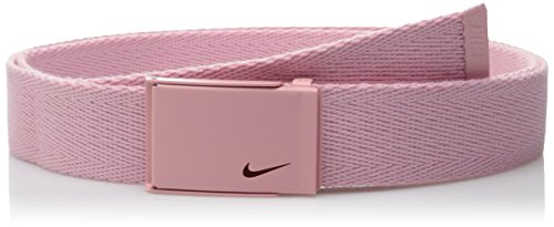 Nike Women's Tech Essentials Single Web Belt, Perfect Pink, One (Vision Web)