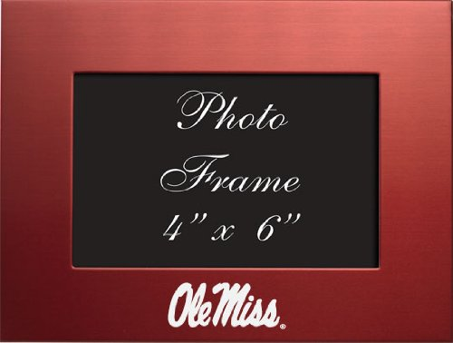 (LXG Ole Miss, University of Mississippi - 4x6 Brushed Metal Picture Frame -)