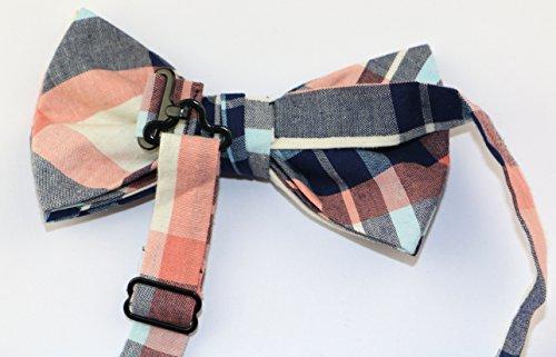 OCIA Mens Cotton Plaid Handmade Bow Tie -OM56