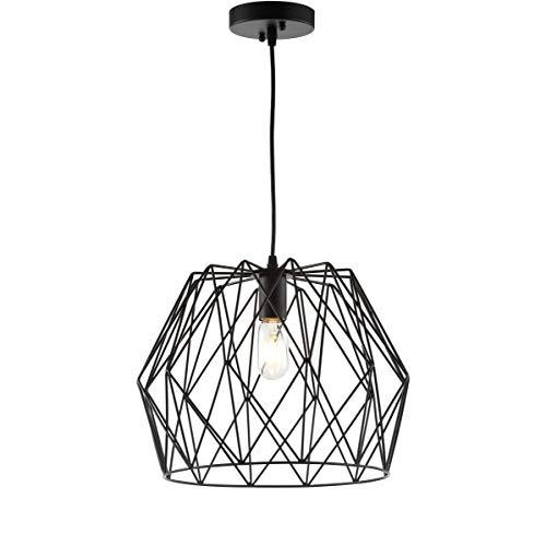 Safavieh PND4033A Home Collection Electra Black Pendant Light,