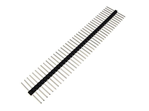 (1x40 Pin 40P 2.54mm Straight Male Header Body Centered 15mm - Black- Pack of 5)