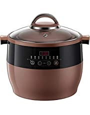 YHLZ Slow Cooker, Slow Cooker with 8 Heat Settings, Keep Warm Function, Removable Ceramic Pot, 4.5 Litre, 600W 9.5-Hour Appointment Function