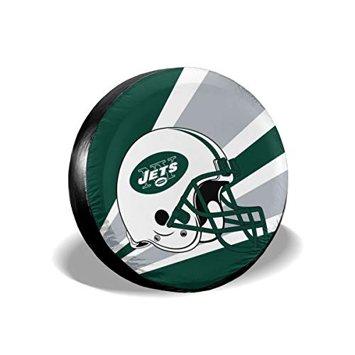 Marrytiny Custom Spare Tire Cover New York Jets Polyester Weatherproof Potable Universal Spare Wheel Tire Cover Protectors for Jeep Trailer RV SUV Truck and Many Vehicle 17 Inch