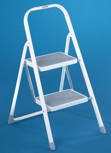 Remarkable Leifheit Mobile Medium 2 Step Folding Ladder Amazon Co Uk Cjindustries Chair Design For Home Cjindustriesco