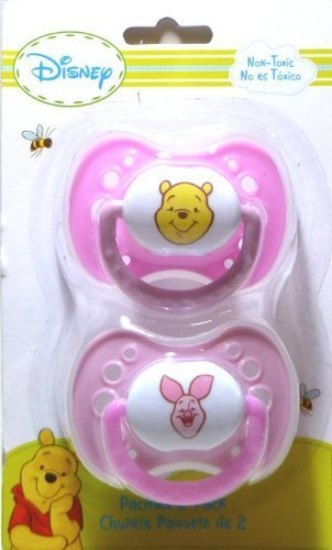 Amazon.com : Winnie the Pooh 2pk Print Pacifiers (Color May ...