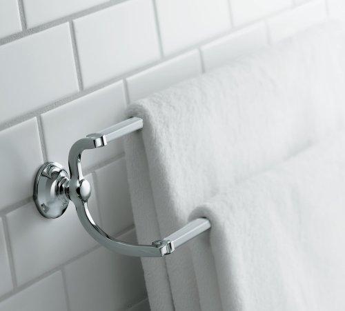 KOHLER K-11413-BN Bancroft 24-Inch Double Towel Bar, Vibrant Brushed Nickel Photo #3