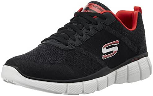 Skechers Mens Equalizer 2.0 - True Balance Sneaker Black/Red Size 9