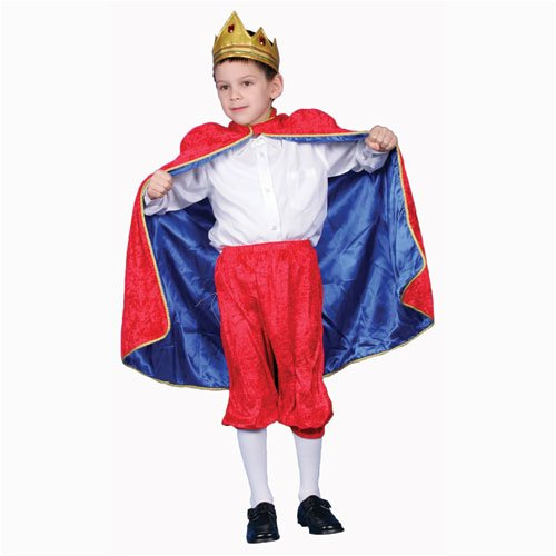 [Deluxe Royal King Dress Up Costume Set - Red - Small 4-6] (Small Toddler Toddler Costumes)