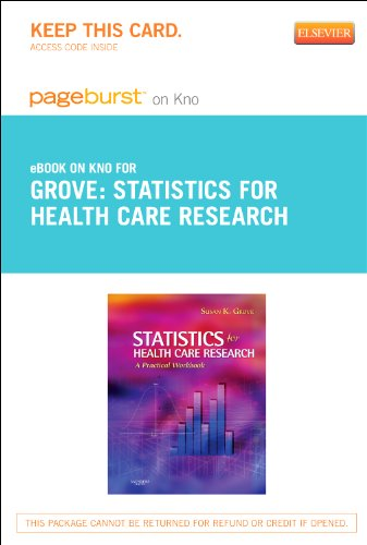 Statistics for Health Care Research – Elsevier eBook on Intel Education Study (Retail Access Card): A Practical Workbook, 1e