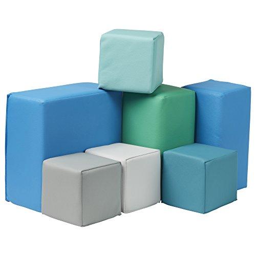 ECR4Kids Softzone Foam Big Building Blocks, Soft Play for Kids (7-Piece Set), Toddler blocks, Contemporary