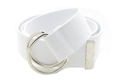 Ladies D-ring Belt (Canvas Web Belt Double D-Ring Buckle 1.5