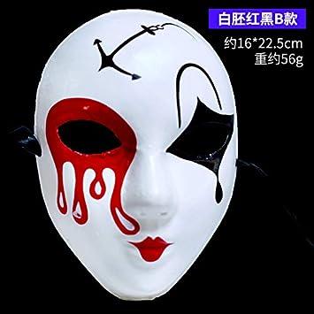 Decoración De Halloween Falsa Cara Maquillaje Máscara De Bola ...