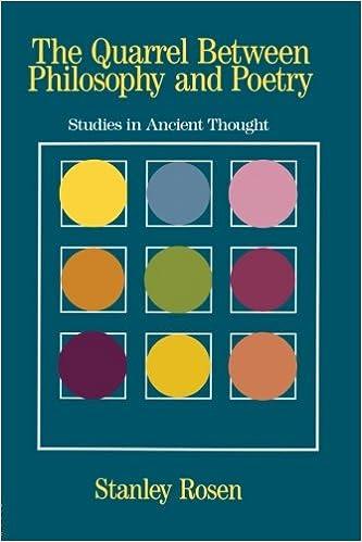 ancient quarrel between philosophy and poetry