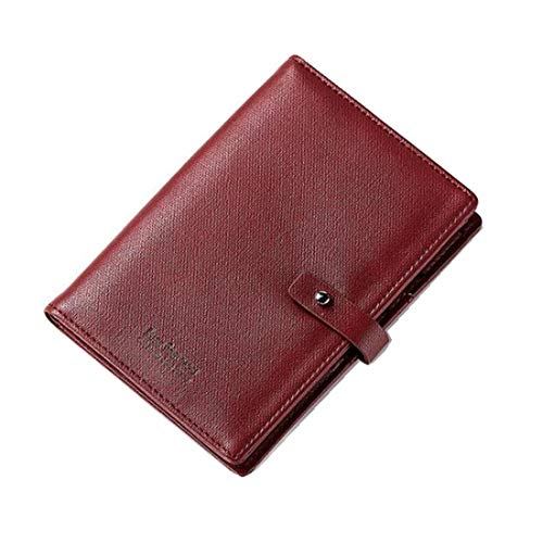 carta portafoglio per pelle Borsa frizione rosso donna in morbida di Portafoglio Bifold a colore portafoglio tracolla wRR8Ax