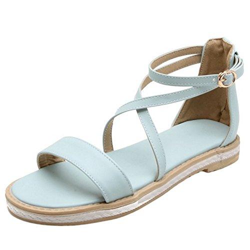 Blue Moda Verano Plano Coolcept Cruzado Mujer Sandalias a06Y6f