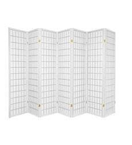 7 Panel Room Divider - White (Divider Square Wood Room)