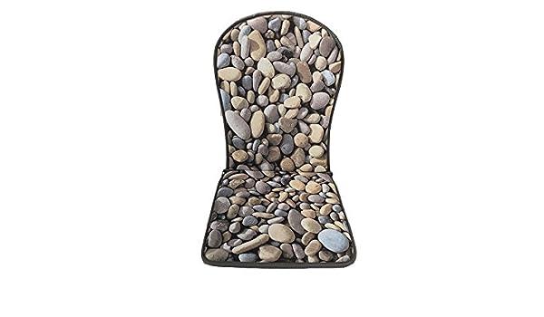 Catay Home Cojín monobloc con respaldo estampado de piedras ...