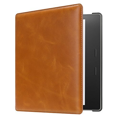 CaseBot Leather Case for Kindle Oasis (9th Gen, 2017 Release) - Brown
