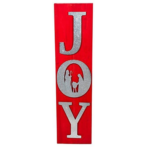 New Creative Joy Wood and Galvanized Metal Holiday Porch or Home Decoration